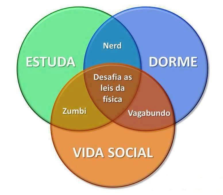 Estuda dorme vida social
