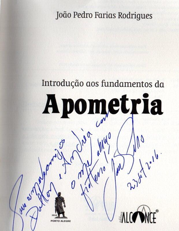 Autógrafo João pedro da CAsa do jardim - Fundamentos da Apometria